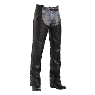 Custom Bilt Cruiser Deep Pocket Chaps (Color: Black / Size: SM) 1133457