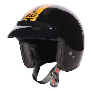 Bilt Retro Jet Helmet (Color: Black/Orange / Size: SM) 1133543