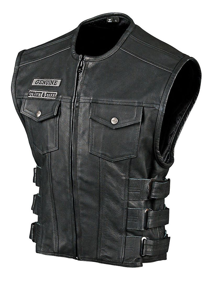 Street Amp Steel Anarchy Leather Vest Cycle Gear