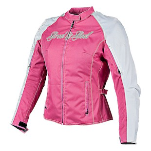 Street & Steel Heart Throb Women's Jacket (Color: White/Pink / Size: MD) 1136584