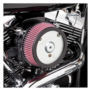 Arlen Ness Naked Stage 1 Big Sucker Air Cleaner For Harley Evolution 1993-1999 (Material: Synthetic Stainless Jacketed Air Filter / Type: Black Backing Plate) 1071649