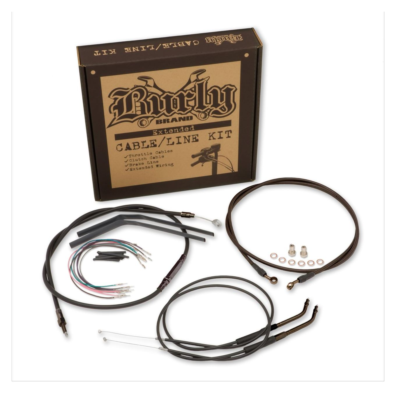 Cable Installation Kit : Burly t bar cable installation kit for harley sportster