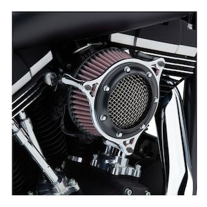 Fits Harley-Davidson 2000-2017 Twin Cam 81-204 Cable Style Arlen Ness Velocity 65 Air Cleaner Kit in Black Models