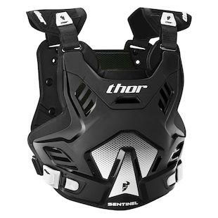 Thor Youth Sentinel GP Chest Protector (Color: Black/White / Size: Youth SM-MD) 1139711
