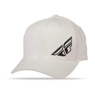 Fly Racing F Wing Hat (Color: White / Size: LG-XL) 1140762
