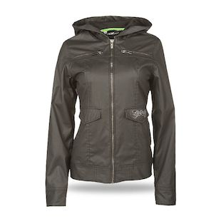 Fly Racing Waxed Women's Jacket (Color: Black / Size: XL) 1141390