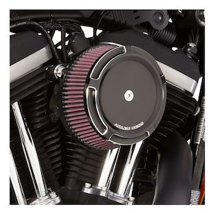 Arlen Ness Beveled Stage 1 Big Sucker Air Cleaner Kit For Harley Twin Cam 1999-2017 (Material: Standard Air Filter / Type: Beveled Chrome Billet Cover) 1141325