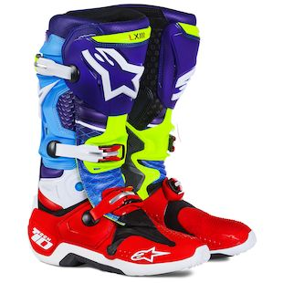 Alpinestars Tech 10 Venom LE Boots (Color: Blue/Red/Cyan / Size: 11) 1142826
