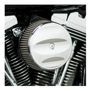 Arlen Ness Scalloped Stage 1 Big Sucker Air Cleaner Kit For Harley Twin Cam 1999-2017 (Material: Standard Air Filter / Type: Scalloped Chrome Billet Cover) 878053