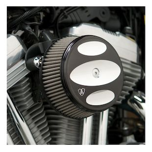 Arlen Ness Scalloped Stage 1 Big Sucker Air Cleaner Kit For Harley Sportster 1988-2018 (Material: Synthetic Stainless Jacketed Air Filter / Type: Scalloped Black Billet Cover) 1071673