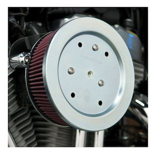 Arlen Ness Naked Stage 2 Big Sucker Air Cleaner For Harley Twin Cam 1999-2017 (Material: Standard Air Filter / Type: Black Backing Plate) 1071586