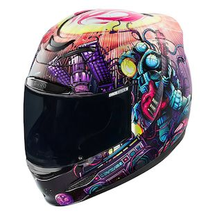 Icon Airmada Space Bass Face Helmet (Color: Purple/Red / Size: SM) 1144779