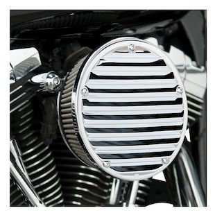 Arlen Ness Derby Sucker Air Cleaner For Harley 2008-2017 (Material: Synthetic Stainless Jacketed Air Filter / Type: Black Backing Plate) 1071632
