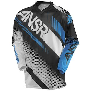 Answer Youth Syncron Air Jersey (Color: White/Black/Cyan / Size: XL) 1146596