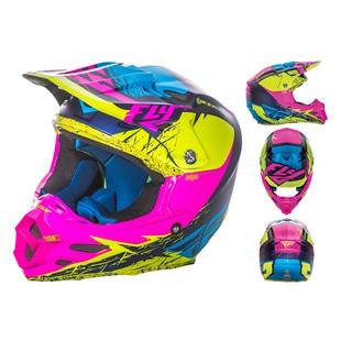 Fly Racing F2 Carbon MIPS Retrospec Helmet (Color: Hi-Viz/Pink / Size: 2XL) 1148223