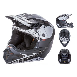 Fly Racing F2 Carbon MIPS Retrospec Helmet (Color: White/Black / Size: 2XL) 1148199