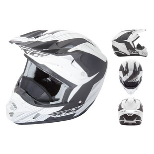 Fly Racing Kinetic Pro Cold Weather Helmet (Color: White/Black / Size: 2XL) 1148233