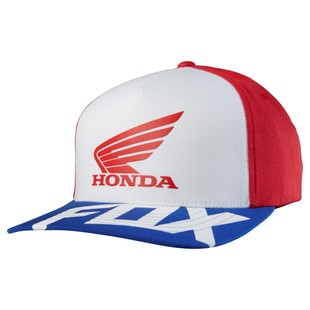 Fox Racing Honda Basic Flexfit Hat (Color: Red/White / Size: SM-MD) 1151163