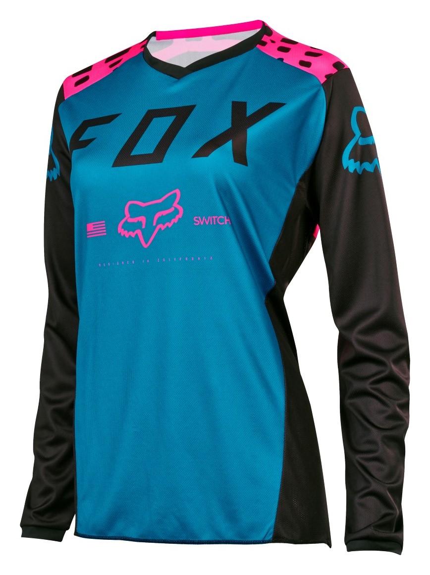 Fox Racing Youth Girls Blackout Black//Pink Dirt Bike Jersey Motocross ATV MX