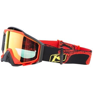 Klim Radius Pro Snow Goggles (Color: Tundra Red / Lens: Polarized Light Brown) 1126909