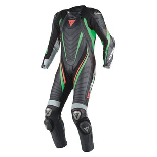 Dainese Aero EVO D1 Race Suit - Closeout (Color: Black/Anthracite/Fluo Green / Size: 48) 1043565
