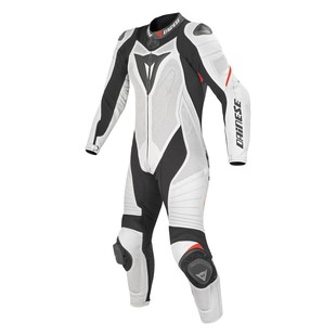 Dainese Laguna Seca EVO Perforated Women's Race Suit - (Sz 44 Only) (Color: White/Black/Fluo Red / Size: 44) 990542