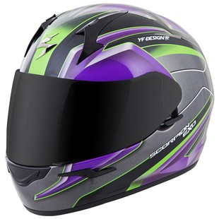 Scorpion EXO-R410 Kona Helmet (Color: Purple/Silver / Size: 3XL) 1152733