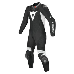 Dainese Laguna Seca EVO Perforated Women's Race Suit - (Sz 40 Only) (Color: Black/White/White / Size: 40) 990533