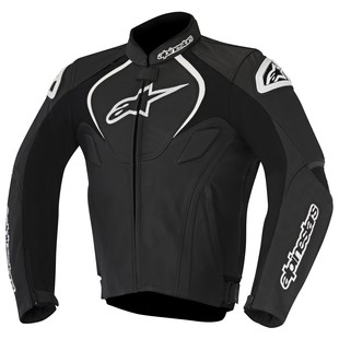 Alpinestars Jaws Leather Jacket (Color: Black / Size: 48) 1157598