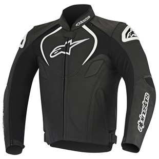 Alpinestars Jaws Perforated Leather Jacket (Color: Black / Size: 62) 1157628