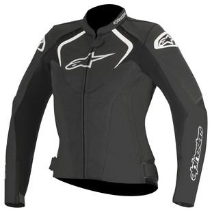 Alpinestars Stella Jaws Leather Jacket (Color: Black / Size: 50) 1157655