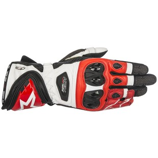 Alpinestars Supertech Gloves (Color: Black/White/Red / Size: 3XL) 1157505
