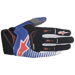 Alpinestars Techstar Gloves (Color: Blue/White/Red / Size: LG) 1156613