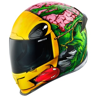 Icon Airframe Pro Brozak Helmet (Color: Green/Yellow / Size: XL) 1158009