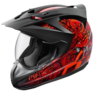 Icon Variant Cottonmouth Helmet (Color: Red / Size: SM) 1158060