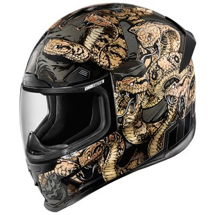 Icon Airframe Pro Cottonmouth Helmet (Color: Gold / Size: XS) 1158066