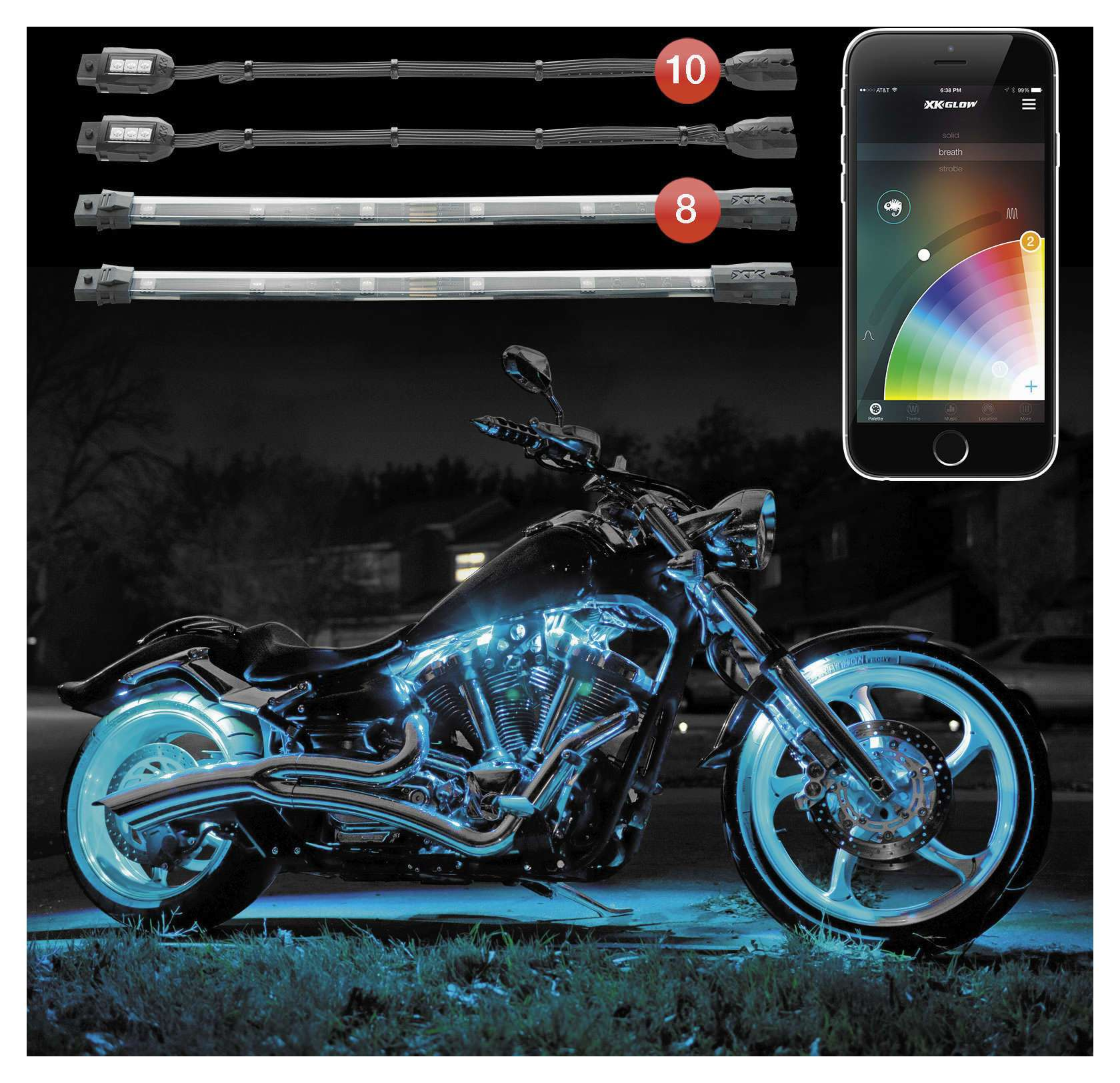 XK Glow XKChrome App Controled Light Kit / Motorcycle - Cycle Gear