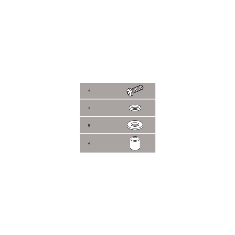 Givi D3101KIT Windshield Fit Kit V-Strom DL650 2012-2016