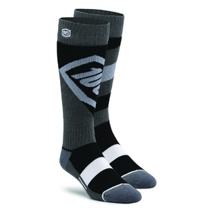 100 Youth Torque Moto Socks (Color: Black / Size: SM-MD) 1160431