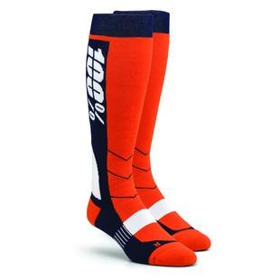 100 Hi Side Performance Moto Socks (Color: Orange / Size: SM-MD) 1160433