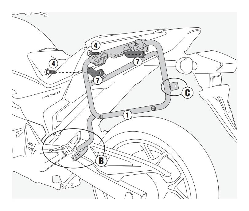 Givi Pl1111cam Side Case Racks Honda Nc700x 2012 2015