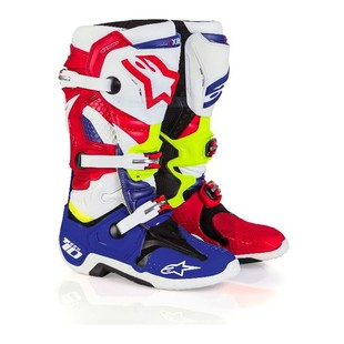Alpinestars Tech 10 LE Nations Boots (Color: Red/White/Blue / Size: 10) 1164582
