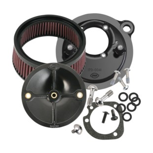 S&S Stealth Air Cleaner Kit For Harley EFI Sportster 2007-2018 (Finish: Black) 1165618