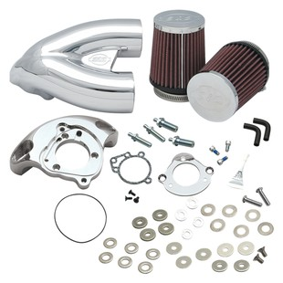 S&S Single Bore Tuned Induction Kit For Harley EFI Big Twin 2001-2017 (Finish: Chrome) 1214267