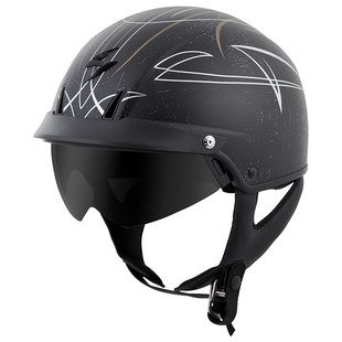Scorpion EXO-C110 Pinstripe Helmet (Color: Gold/Silver / Size: MD) 1167773
