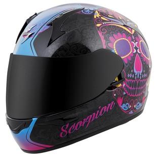 Scorpion EXO-R410 Sugarskull Helmet (Color: Pink / Size: LG) 1167823