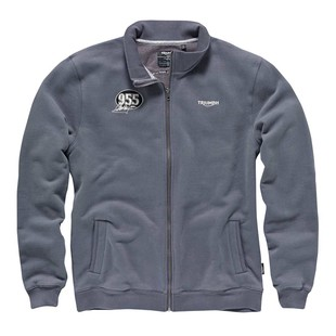 Triumph McQueen 955 Zippered Sweat Shirt - (Sz XS and SM Only) (Color: Grey / Size: SM) 1022797