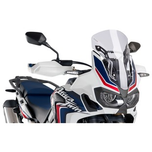 Puig Racing Windscreen Honda Africa Twin 2016-2018 (Color: Clear / Type: With Lift-Up Supports) 1217491