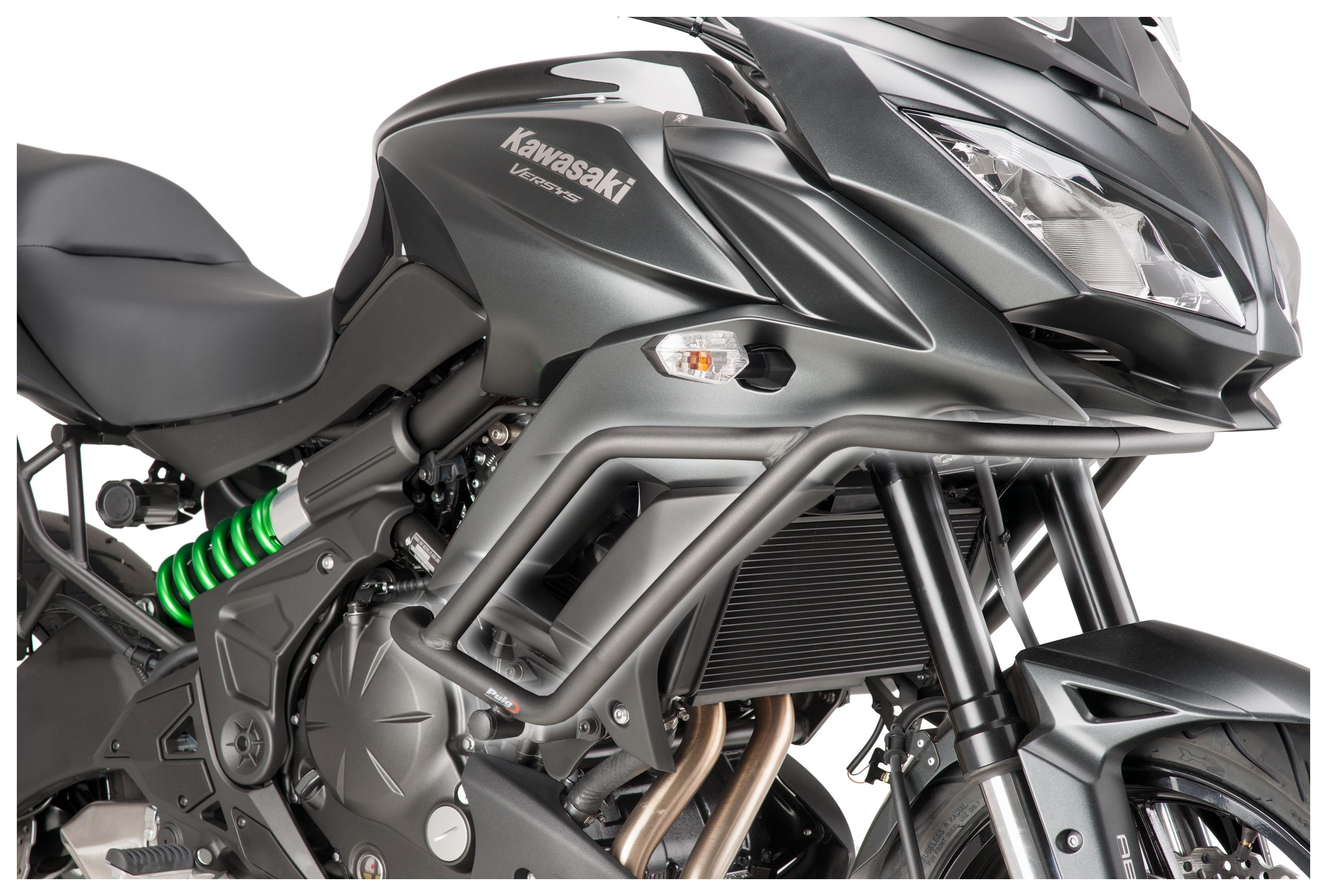 Lower Crash Bar Engine Guard Bumper Fit for Kawasaki KLE650 Versys 650 15-20 CHENDGE2 Upper