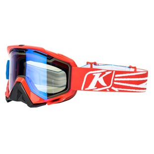 Klim Radius Snow Goggles (Color: Nemesis Red / Lens: Smoke Blue Mirror) 1126911